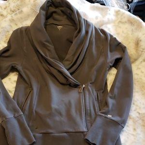 Sude zip jacket